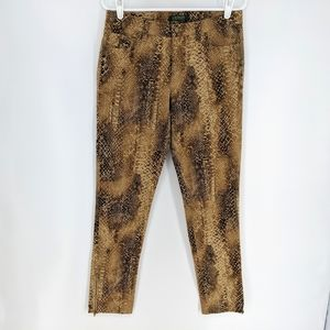 Lauren Ralph Lauren Leopard Animal Print Ankle Zip